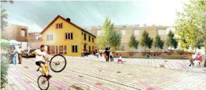 Illustrasjon av en tenkt fremtid for området rundt Kildal